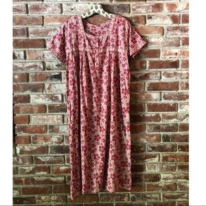 Vintage floral midi dress Sz small/medium